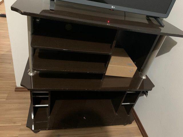 Vende-se mesinha de centro e raque para televisão - Foto 3