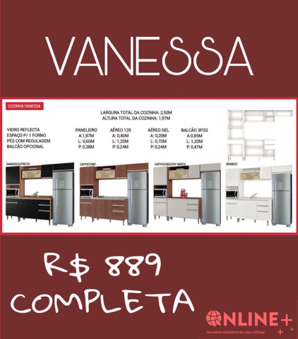 Armário Vanessa completa// oferta imperdível