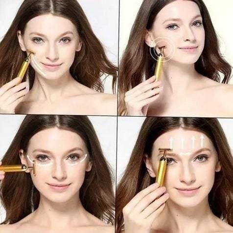 Massageador Facial Eletrico Antirugas Botox Lifting Vibração