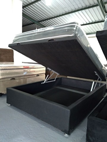 Cama baú, box baú, base baú, cama box baú novos reforçado  - Foto 4