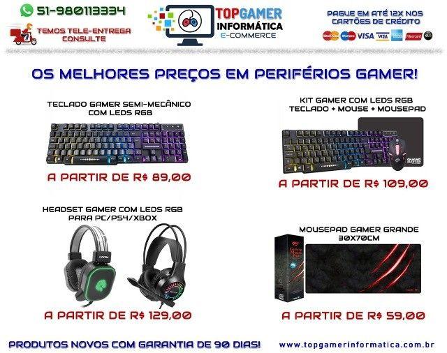 Headset Gamer Teclado Gamer Mouse Gamer Os melhores preços da região. Confira! - Foto 4