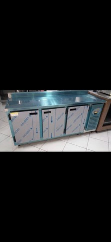 }[}\ Balcão de serviço 3 portas refrigerada (pronta entrega)