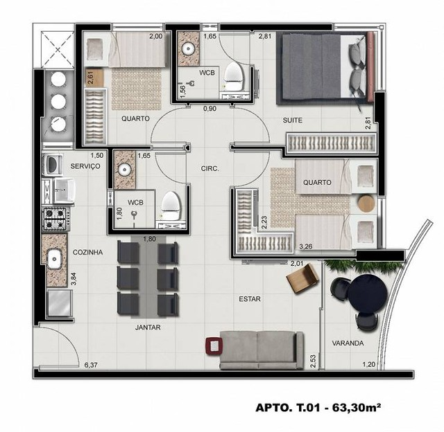 Apartamento para venda possui 64 metros quadrados com 3 quartos em Ponta Verde - Maceió -  - Foto 19