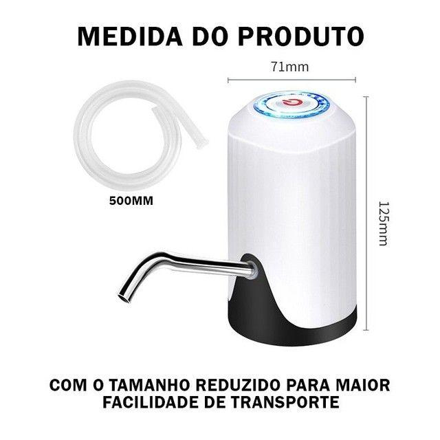 Bomba Elétrica De Galão Universal Com Carregamento USB Para Galão/Garrafão - Foto 2
