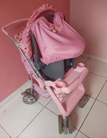 Carrinho e bebê conforto menina - Foto 6