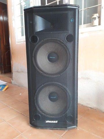Caixa Ativa 650w Rms Alto Falante 15? Oneal Bivolt Opb 5060PT - Foto 6