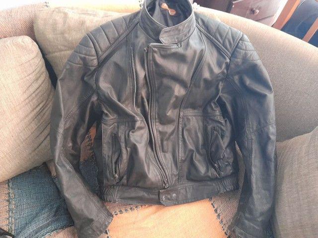 Jaqueta de moto couro puro Legitimo tamanho G Watzaper * - Foto 3