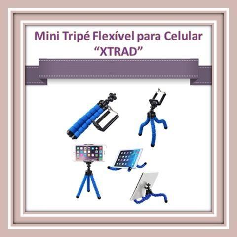 Mini Tripé Flexível para Celulares e Câmeras
