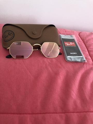 Óculos Ray ban Octagonal Rose gold - Bijouterias, relógios e ... 320bba42a9