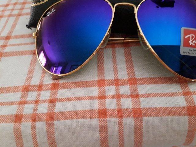 4e0613ba2 Oculos de sol rayban aviador roxo espelhado - Bijouterias, relógios ...