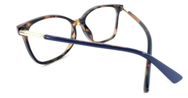 8d5c77ad0 Óculos Armação De Grau Quadrado Lentes Sem Grau + Brinde Novo ...