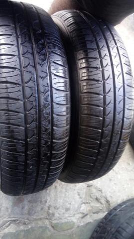 2 pneus 165/70/13 seminovo - Foto 3