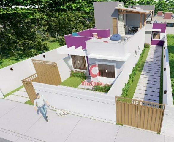 Lindas casas com 2 quartos sendo 1 auíte com terraço gourmet perto da pista !!! - Foto 17