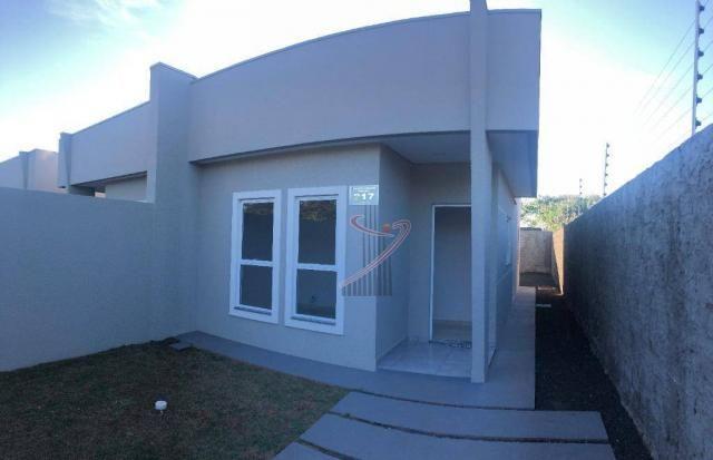Casa recém construída no Jd. Cataratas com 2 quartos, amplo quintal - apta para financiame - Foto 3