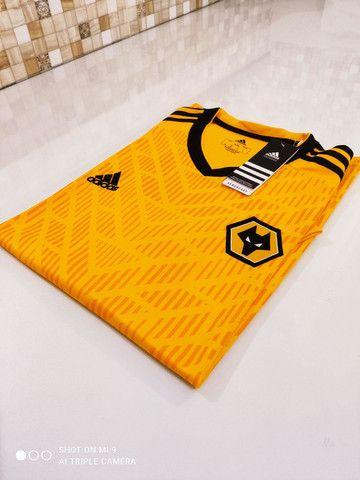 Camisa Wolverhampton Home Adidas 20/21 - Tamanho: G - Foto 2