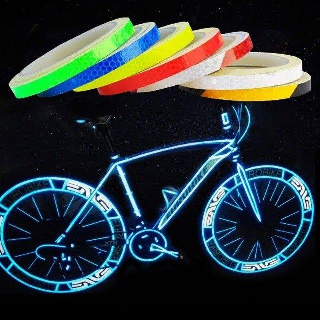 Fita P/Bicicleta, Fluorescente e Reflexiva