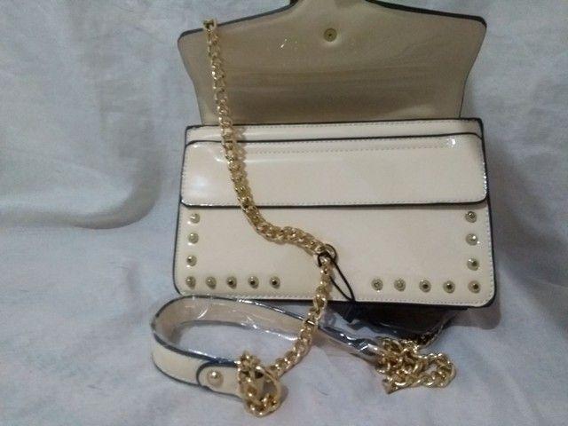 Bolsa transversal feminina Branca  - Foto 3