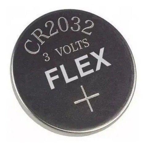 Bateria Botão Cr 2032 Flex De Lithium 3v
