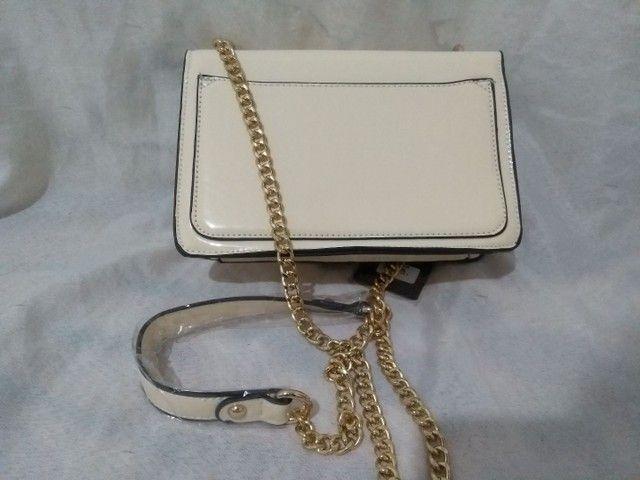 Bolsa transversal feminina Branca  - Foto 4