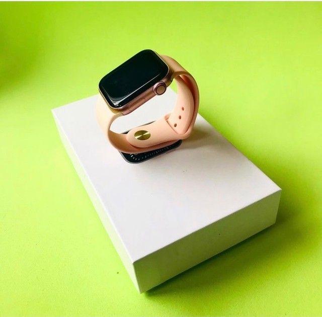 Smart watch na caixa rosé - Foto 4