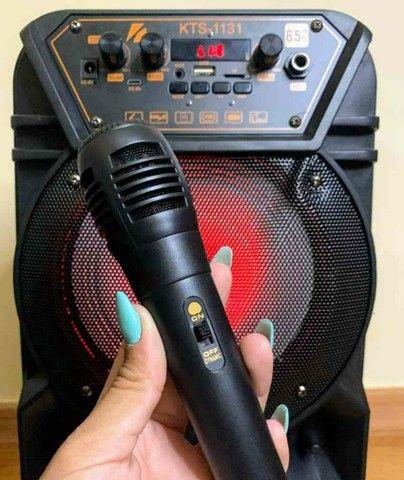 Caixa de som Bluetooth KTS 1131 com controle e microfone ?? - Foto 3