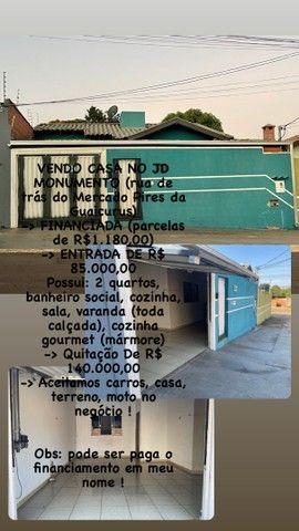 Casa atrás do mercado Pires na Guaicurus ! Pode pagar financiamento em meu nome