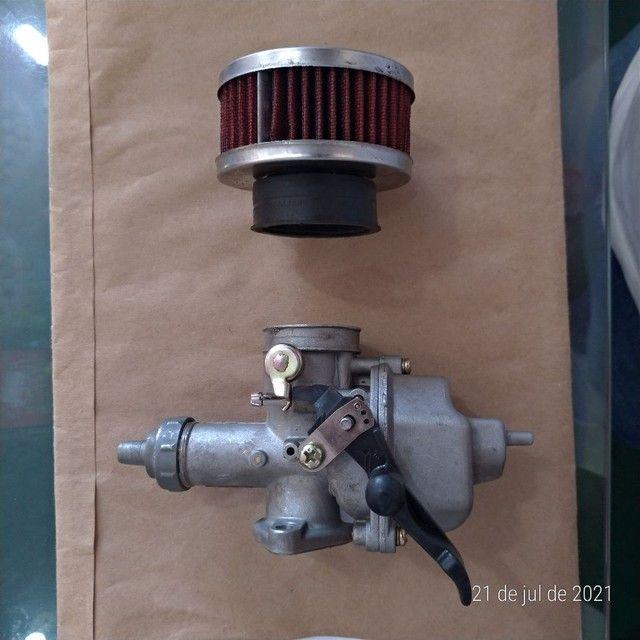 Vendo um carburador 125 e um filtro esportivo - Foto 2