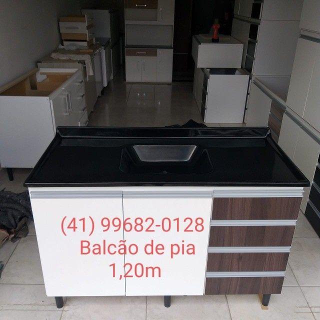 Balcão de pia 1,20m com tampo de mármorite/NOVO - Foto 2