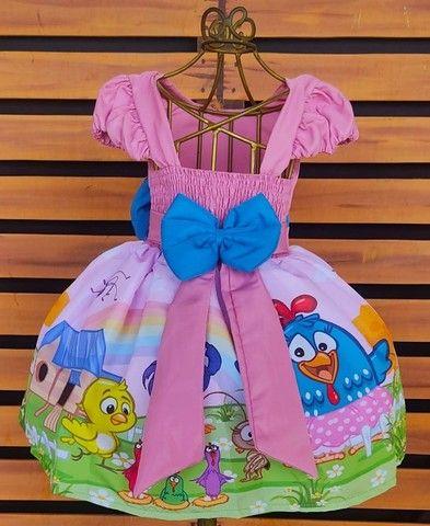 Vestido Galinha Pintadinha Tamanho 1 - Foto 2