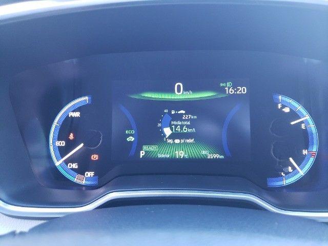 Corolla Altis Premium Hybrid 2022, 3.000km, Teto Solar, Flex e Elétrico - Foto 13
