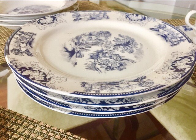Conjunto porcelanas loucas para chá , jantar - Foto 4