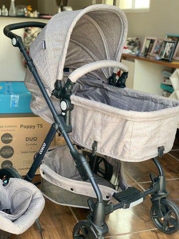 Carrinho e bebê conforto Cosco - Foto 2