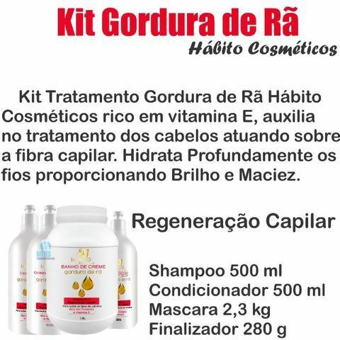 Gordura de Rã Habito Cosméticos Kit Tratamento Reconstrução Hidratação 003 - Foto 2