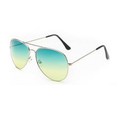6d2ff22ac1930 Óculos Aviador Verde Amarelo Gradiente - Bijouterias, relógios e ...