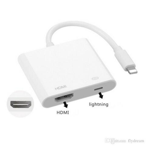 e2070dd9726 Adaptador Chromecast Iphone 6 7 8 Tv Hdmi Ipad Apple Cabo Digital (NOVO)