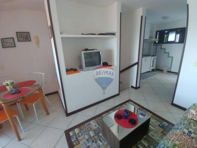 Flat estilo casa duplex com 2 dormitórios à venda, 57 m² por r$ 185.000 - ponta negra - na - Foto 7