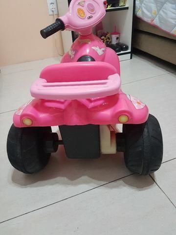 Motoca Elétrica Infantil Rosa - Foto 2