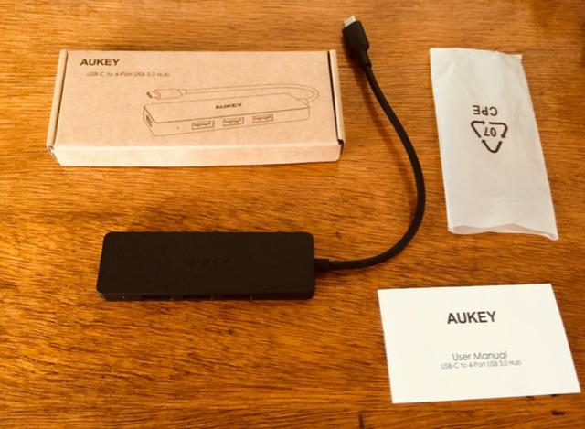 Adaptador Hub USB-C Aukey CB-C64 MacBook Pro - 4 portas USB 3.0 - Foto 3