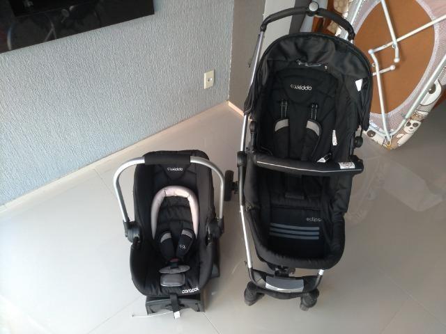 Carrinho De Bebê Kiddo Eclipse + Bebê Conforto E Base