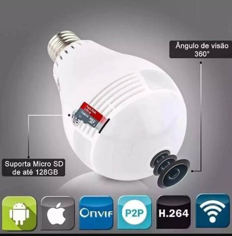 Câmera Segurança Lampada Espia Wifi - imagens pelo celular oferta - Foto 4