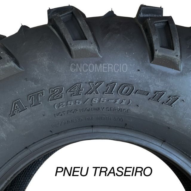 Jogo Pneu Quadriciclo Honda Fourtrax 420 24x8-12 24x10-11 At 12 - Foto 4
