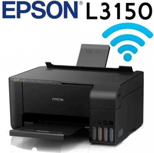 Impressora Multifuncional Epson L3150 Jato De Tinta Ecotank Colorida, Wifi, Bivolt - Foto 2