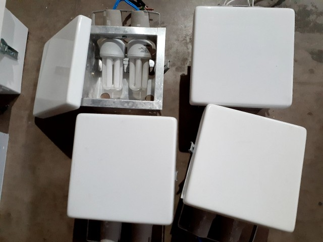 4 Luminárias de Embutir 20 cm x 20 cm, todas por R$ 70,00 - Foto 3
