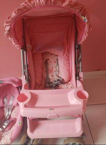 Carrinho e bebê conforto menina - Foto 2