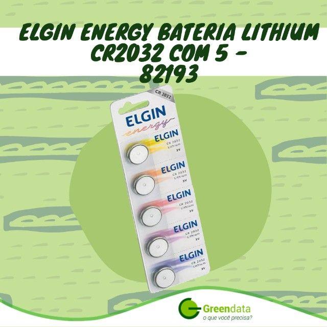 Bateria Cr2032 elgin cartela com 5