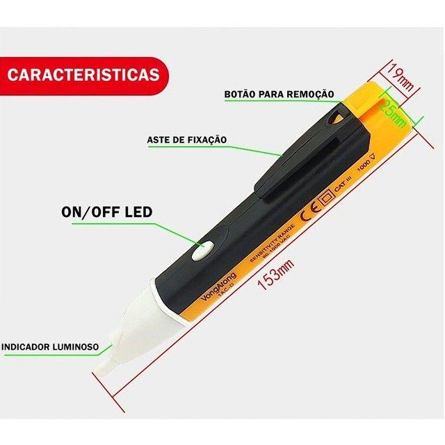 Caneta Detectora De Energia Voltímetro Teste Tensão Sonora - Foto 5