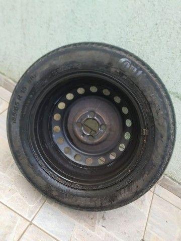 Pneu aro 15 com roda 100 - Foto 3