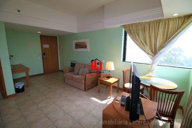 Flat Mobiliado com Vista p Rio no Tropical Hotel 6 Andar - Foto 5