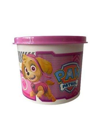 Kit Tupperware Patrulha canina rosa - tupper redondinha + copo com bico 470ml  - Foto 2