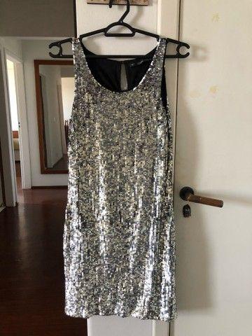 Vestido paetê Zara - TAM S (P)